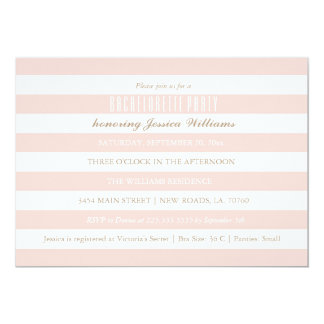 Pink Striped Bachelorette Party Invitations