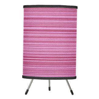 Pink Striped Bamboo Mat Lamp