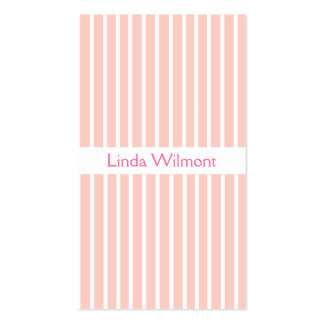 Pink Striped Business Card