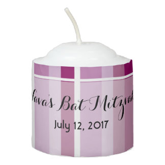 Pink Striped Candle
