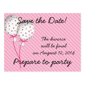 Pink Striped Celebrations Postcard