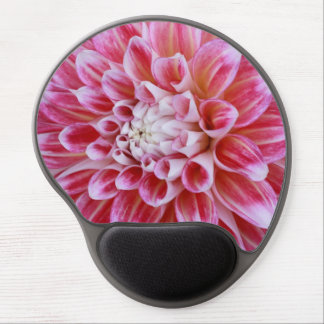 pink striped dahlia gel mouse pad