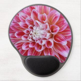 pink striped dahlia gel mousepad