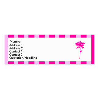 Pink striped flower 3 | Double-Sided mini business cards (Pack of 20)