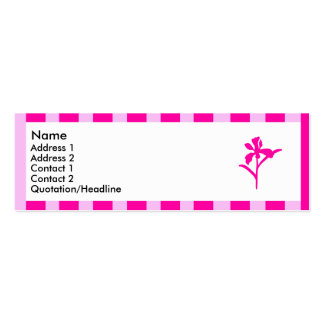 Pink striped flower 4 | Double-Sided mini business cards (Pack of 20)