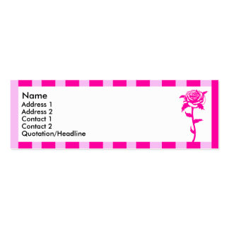 Pink striped flower 7 | Double-Sided mini business cards (Pack of 20)