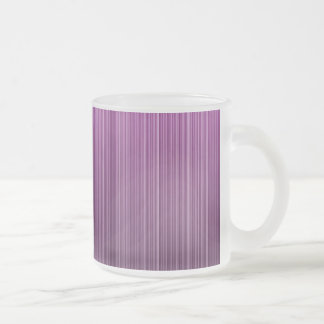 Pink Striped Frosted Glass Coffee Mug