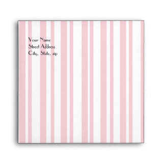 Pink Striped Invitation Envelope