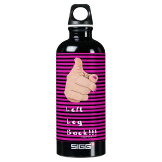 Pink Striped Left Leg Back Water Bottle