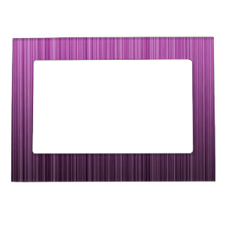 Pink Striped Magnetic Picture Frame