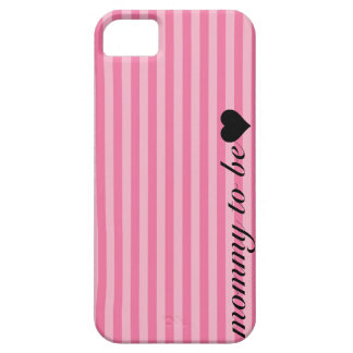 Pink Striped Mommy To Be iPhone SE/5/5s Case