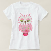 Pink Striped Owl T-Shirt