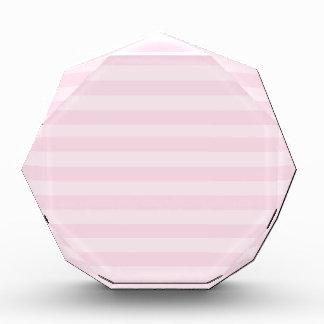 Pink Striped Pattern Acrylic Award