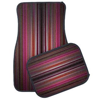Pink striped pattern car mats