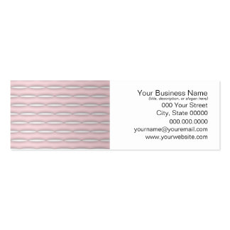 Pink Striped Pattern Modern Design Double-Sided Mini Business Cards (Pack Of 20)