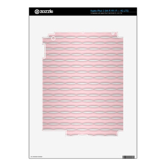 Pink Striped Pattern Modern Design Skins For iPad 3