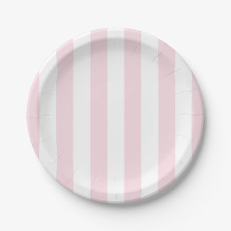 Pink Striped Plates