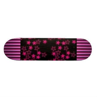 Pink Striped Stars Skateboards
