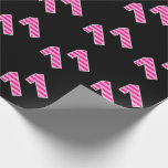 [ Thumbnail: Pink Stripes 11 Event # (Birthday, Anniversary) Wrapping Paper ]