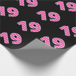 [ Thumbnail: Pink Stripes 19 Event # (Birthday, Anniversary) Wrapping Paper ]