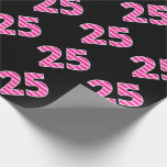[ Thumbnail: Pink Stripes 25 Event # (Birthday, Anniversary) Wrapping Paper ]