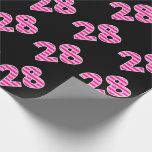 [ Thumbnail: Pink Stripes 28 Event # (Birthday, Anniversary) Wrapping Paper ]