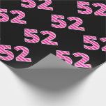 [ Thumbnail: Pink Stripes 52 Event # (Birthday, Anniversary) Wrapping Paper ]