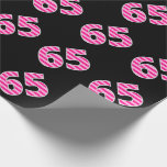 [ Thumbnail: Pink Stripes 65 Event # (Birthday, Anniversary) Wrapping Paper ]