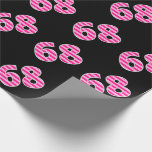 [ Thumbnail: Pink Stripes 68 Event # (Birthday, Anniversary) Wrapping Paper ]