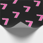[ Thumbnail: Pink Stripes 7 Event # (Birthday, Anniversary) Wrapping Paper ]