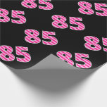 [ Thumbnail: Pink Stripes 85 Event # (Birthday, Anniversary) Wrapping Paper ]
