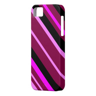 Pink stripes abstract case for the iPhone 5