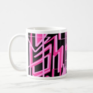 Pink stripes and lines design