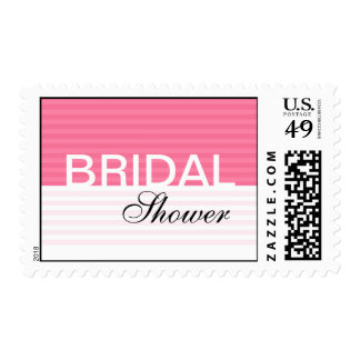 Pink Stripes Bridal Shower Stamps