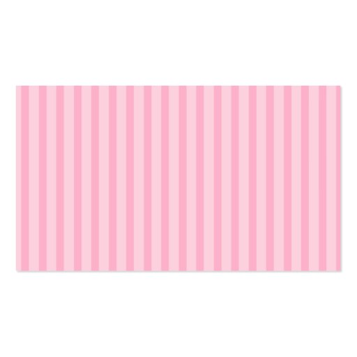 Pink Stripes Double-Sided Standard Business Cards (Pack Of 100)
