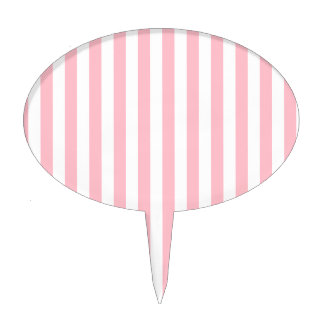 Pink Stripes Cake Toppers