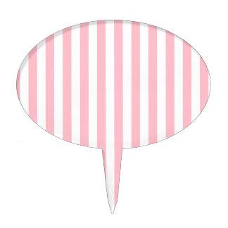 Pink Stripes Cake Topper