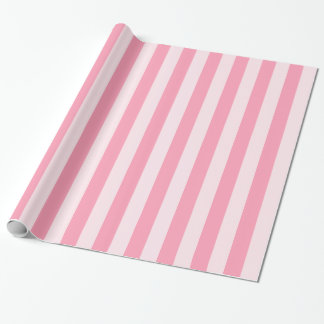 Pink Stripes Candy Shop Wrapping Paper