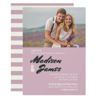 Pink Stripes | Couples Shower Invitations
