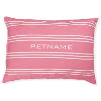 Pink Stripes custom monogram dog beds