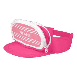 Pink Stripes Custom Text Cap-Sac visors Visor