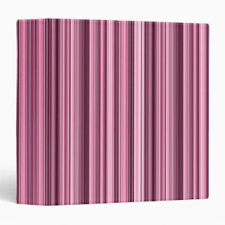 Pink Stripes Diagonal Pattern - Custom Monogram Binder