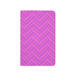 Pink stripes double weave pattern journal