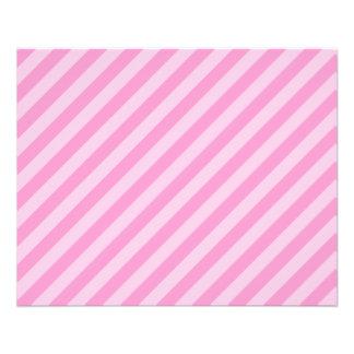 Pink Stripes Flyer Design
