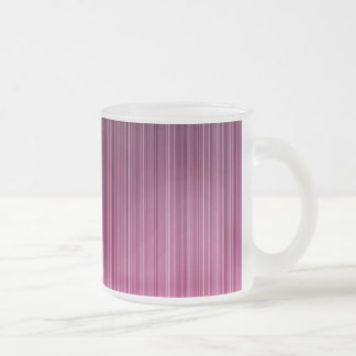 Pink Stripes Frosted Glass Coffee Mug