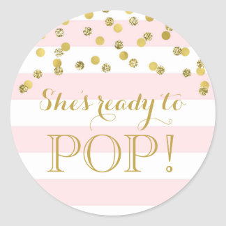 Ready to pop gifts on zazzle for About to pop labels