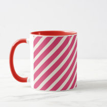Pink Stripes & Green Apple Teacher Mug