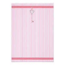 Pink Stripes Invitation