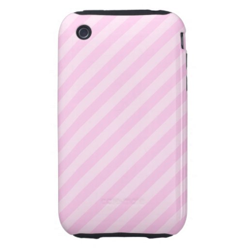 Pink Stripes. iPhone 3 Tough Cover