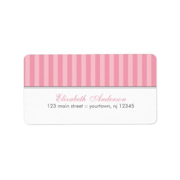 heartlocked Pink Stripes Labels
